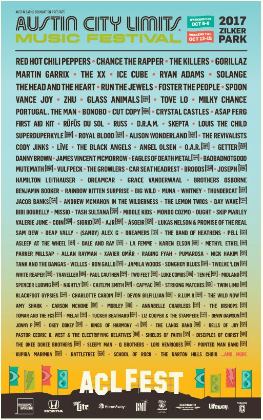 ACL Lineup 2017