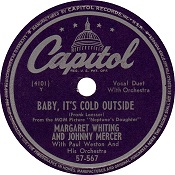 "Mercer wrote the Christmas classic ""Baby, it's Cold Outside"""