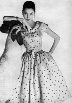 Givenchy model in Harper's Bazaar, May 1954